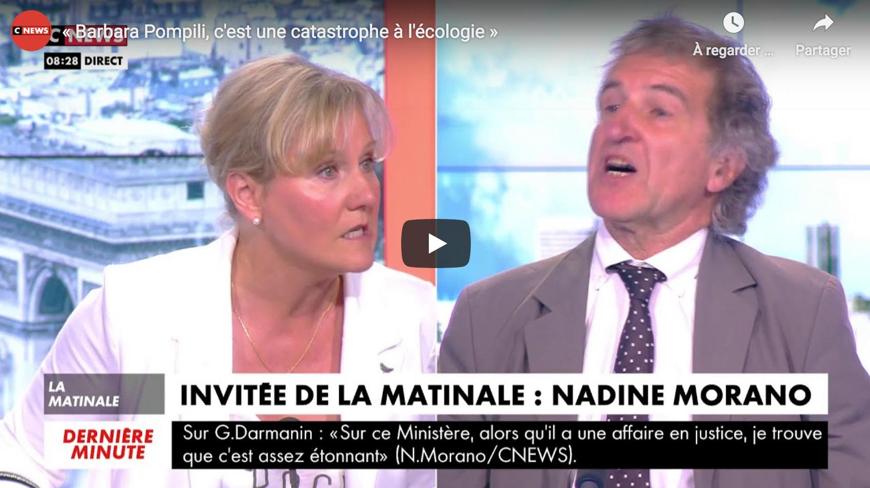 Nadine Morano : « Barbara Pompili, c'est une catastrophe à l'écologie »