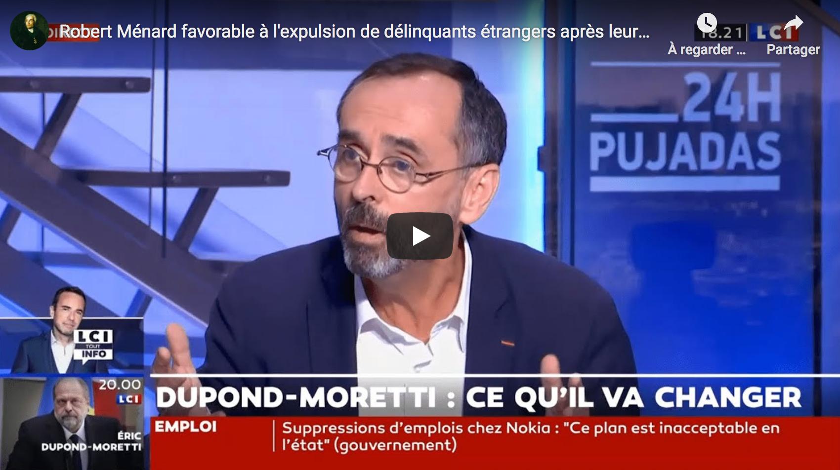 """Robert Ménard : """"Un bon nombre d'élus LR pensent qu'ils sont plus proches de moi que de LaREM"""" (VIDÉO)"""