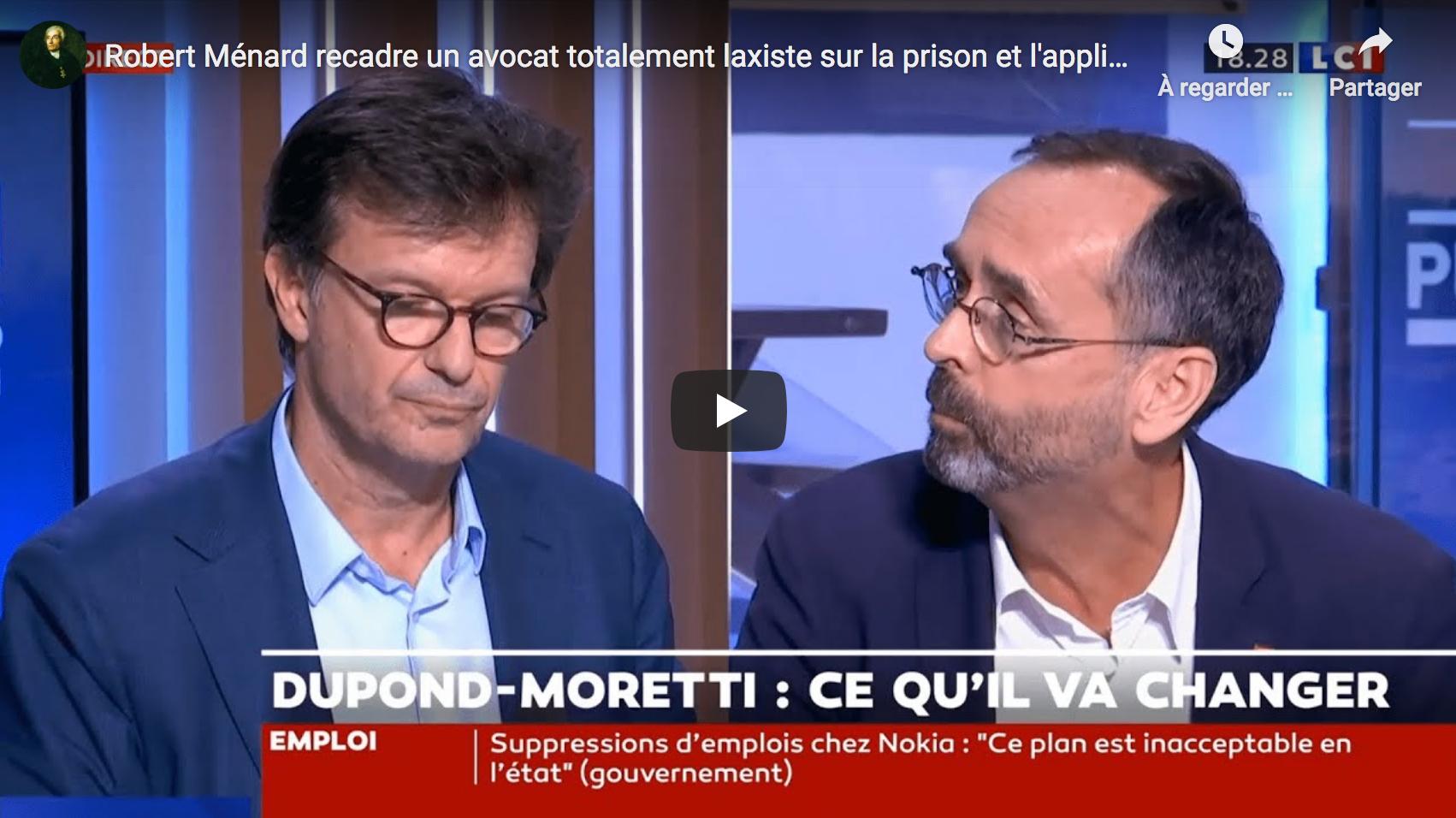Robert Ménard recadre un avocat totalement laxiste sur la prison et l'application des peines (VIDÉO)
