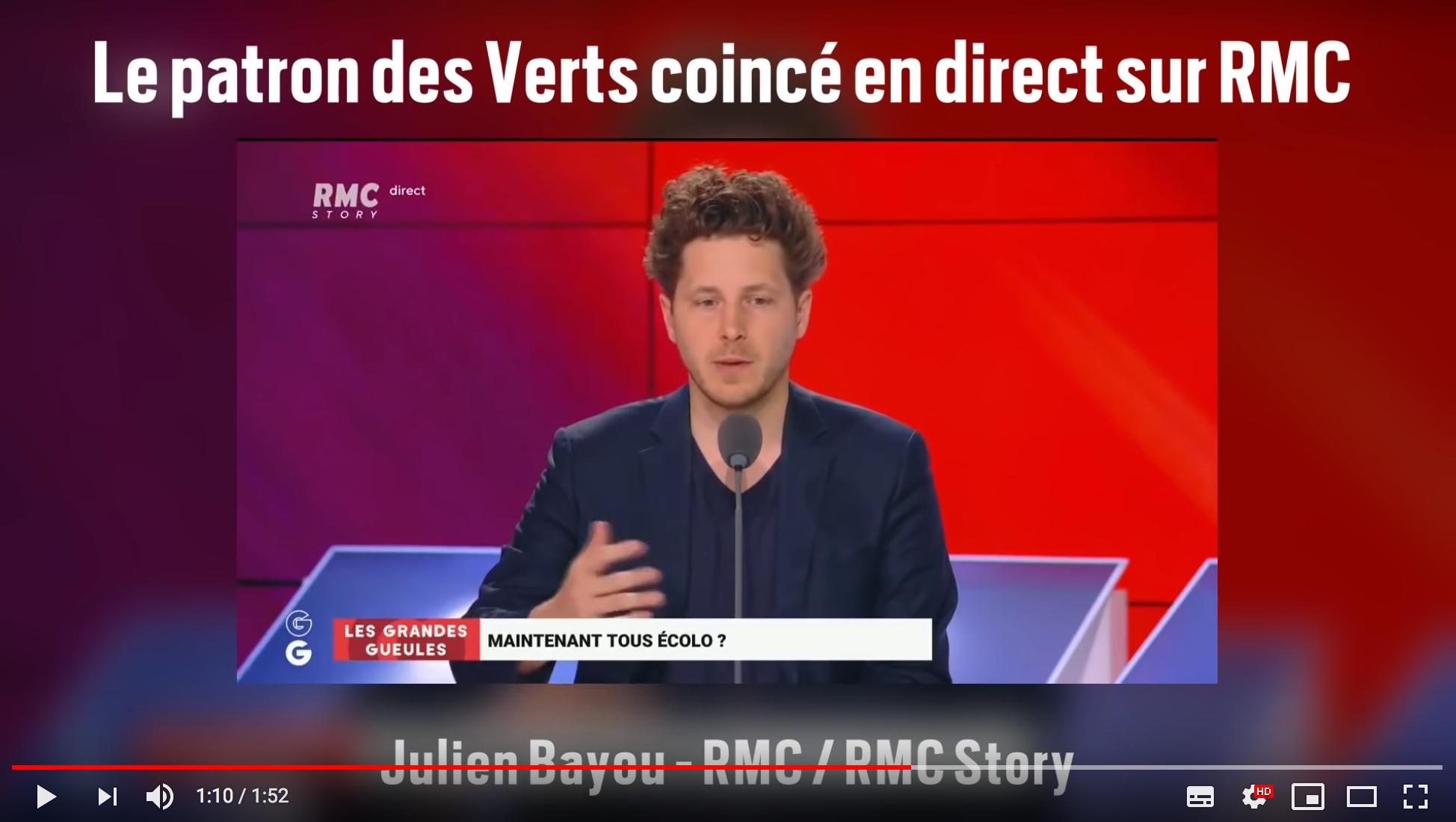 """Le patron des Verts, Julien Bayou, coincé en direct dans """"Les Grandes Gueules"""" (VIDÉO)"""