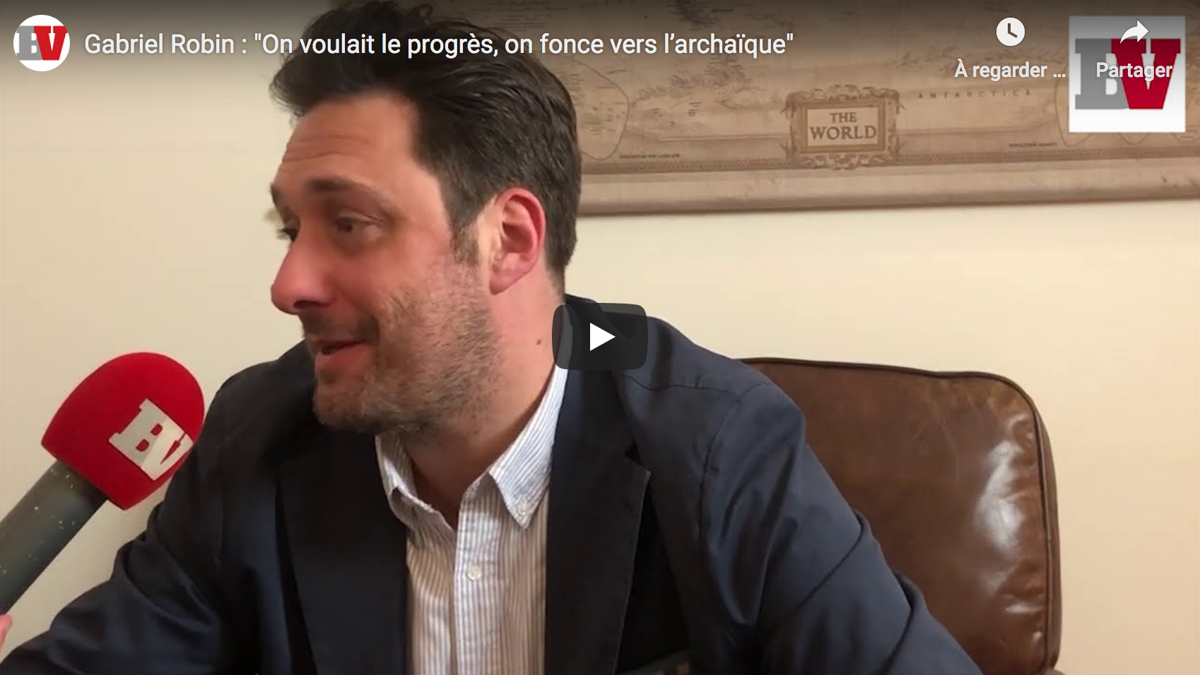 Gabriel Robin : «On voulait le progrès, on fonce vers l'archaïque» (ENTRETIEN)