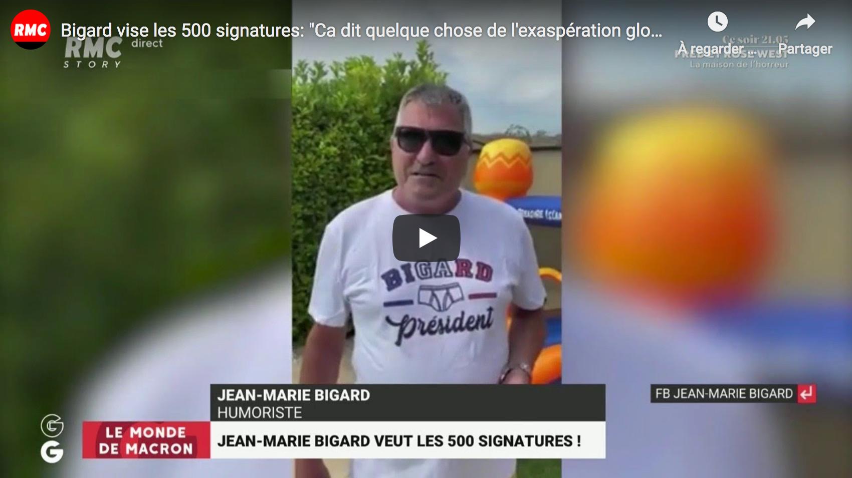 """Jean-Marie Bigard vise les 500 signatures pour se présenter en 2022 : """"Ça dit quelque chose de l'exaspération globale du pays"""""""