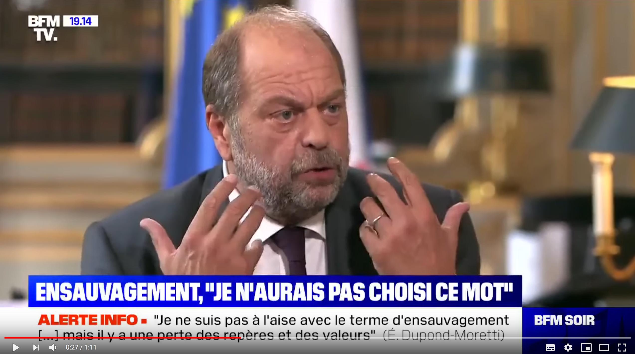 Éric Dupont-Moretti n'aime pas la transparence pour lui mais veut abolir l'anonymat sur Internet