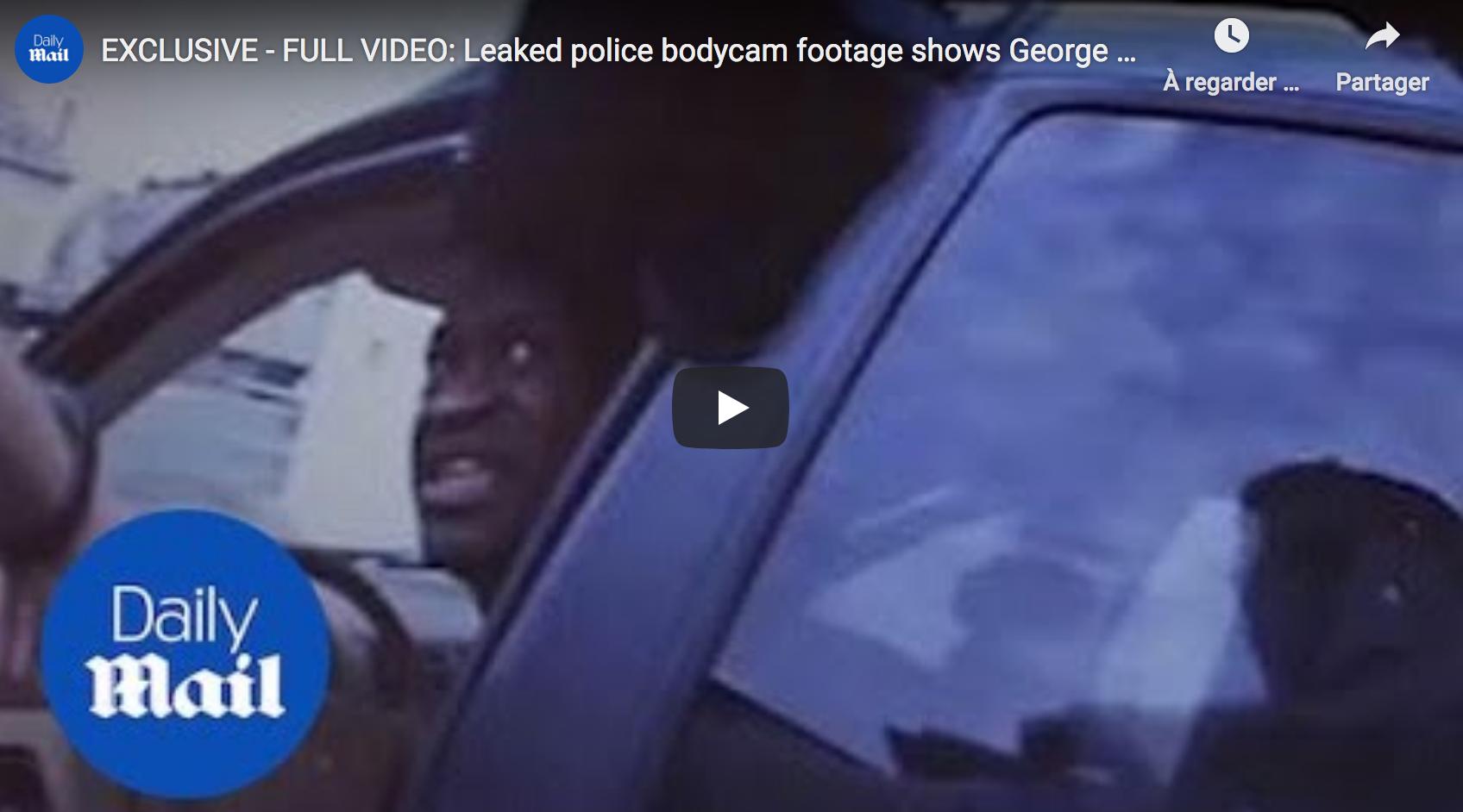 Une nouvelle vidéo donne un éclairage nouveau sur l'affaire Georges Floyd : il résiste et dit qu'il ne peut pas respirer alors qu'il est seulement assis dans la voiture de police