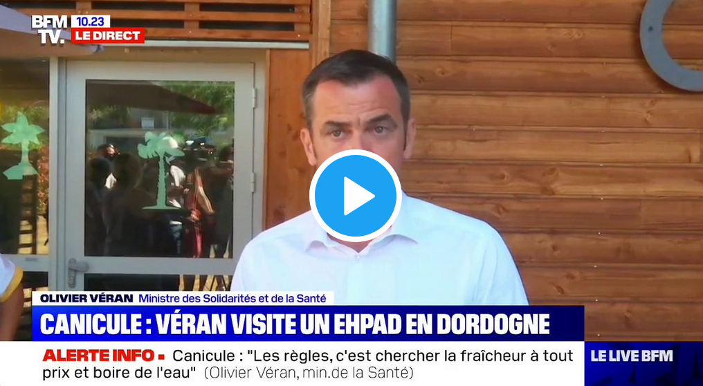 Le petit conseil d'Olivier Véran, ministre de la Santé, contre la canicule…