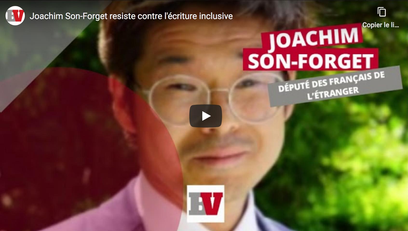 Joachim Son-Forget et Sébastien Chenu proposent une loi visant à interdire l'usage de l'écriture inclusive aux entités publiques et privées recevant des subventions