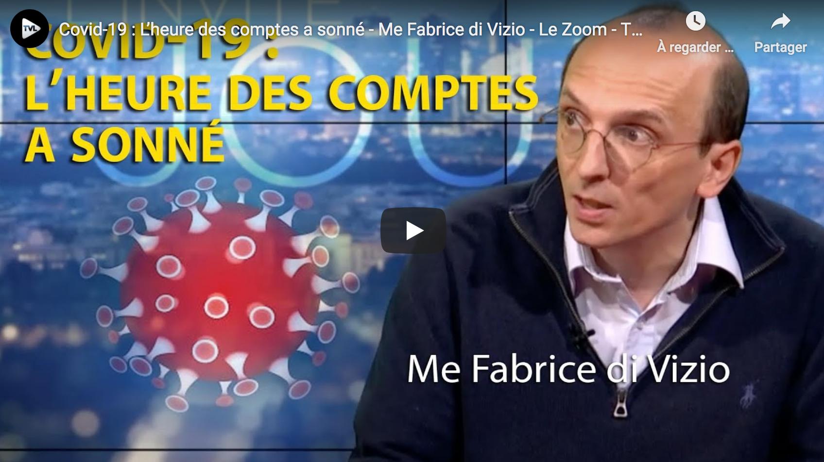 Fabrice Di Vizio revient sur la justice qui retoque couvre-feu et masque en extérieur (VIDÉO)