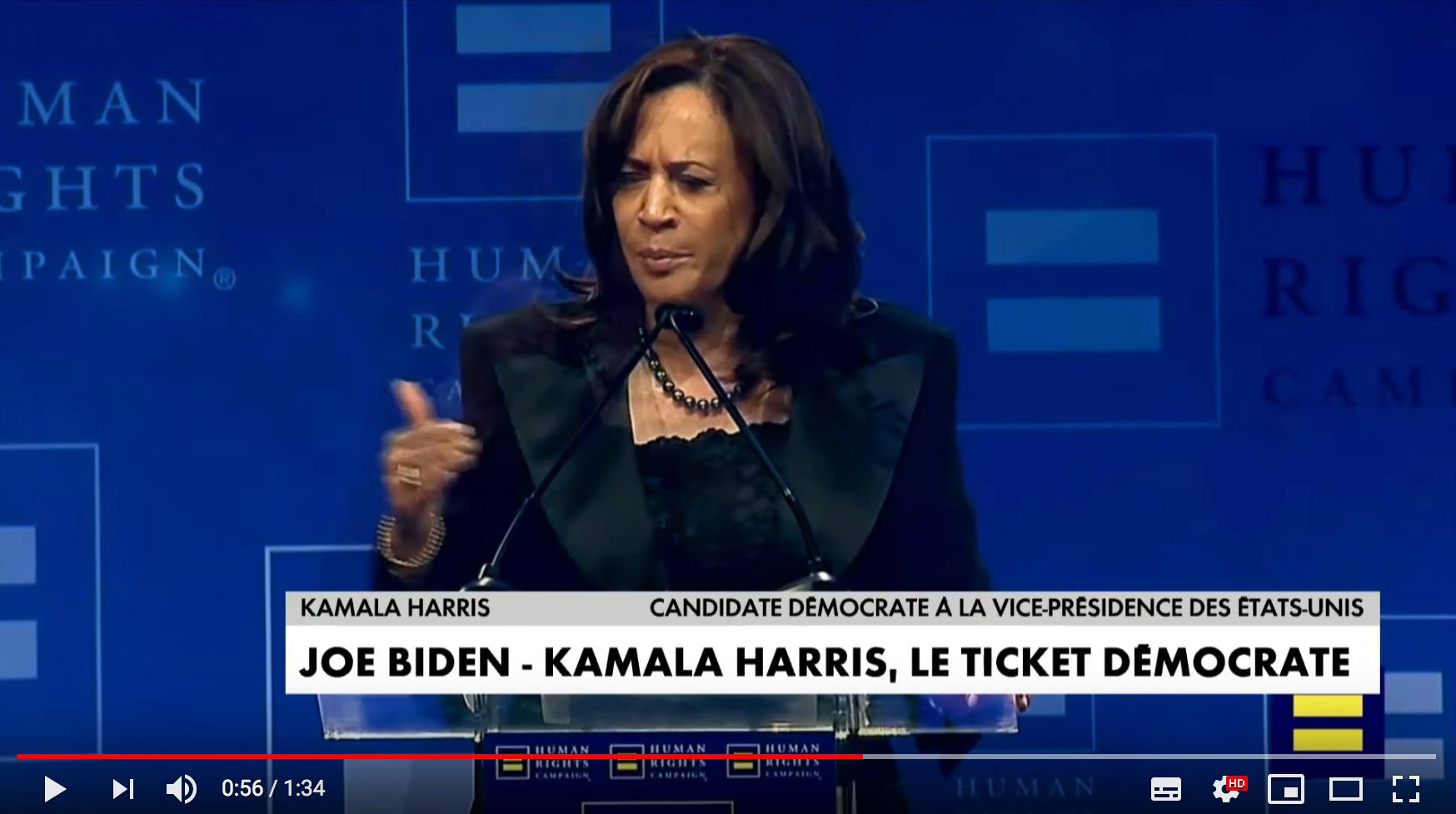 États-Unis : Kamala Harris sera la co-listière de Joe Biden