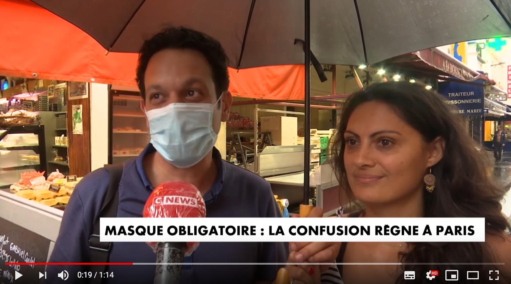 Masque obligatoire : la confusion règne à Paris (VIDÉO)