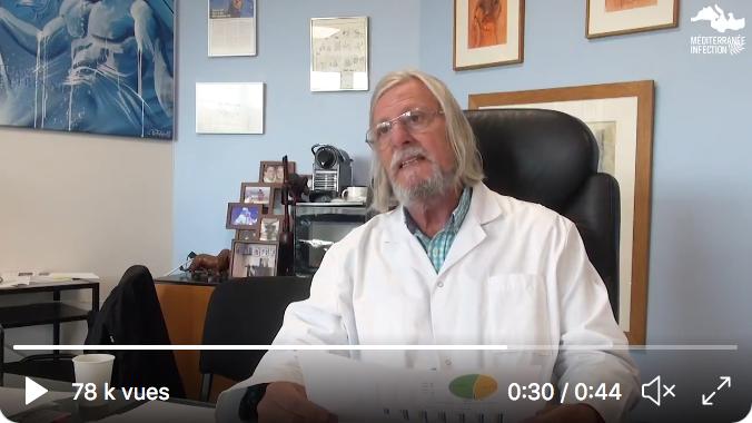 Pr Didier Raoult : « 30 à 40% des tests PCR qui sont positifs à l'extérieur de l'IHU et qui viennent se faire re-contrôler sont négatifs » (VIDÉO)