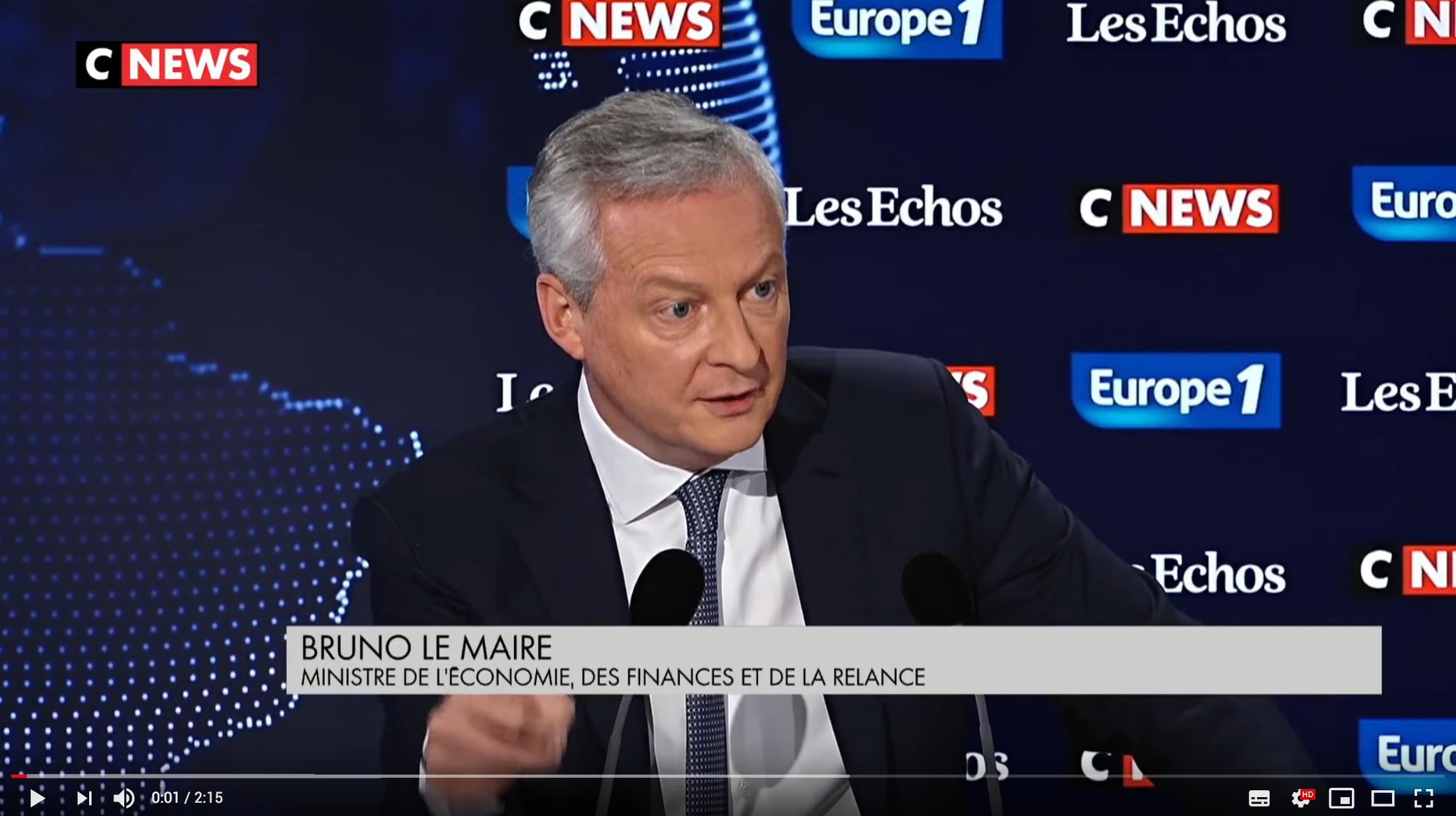 Bruno Le Maire : « Nous restons le pays développé où la pression fiscale est parmi la plus forte » (VIDÉO)