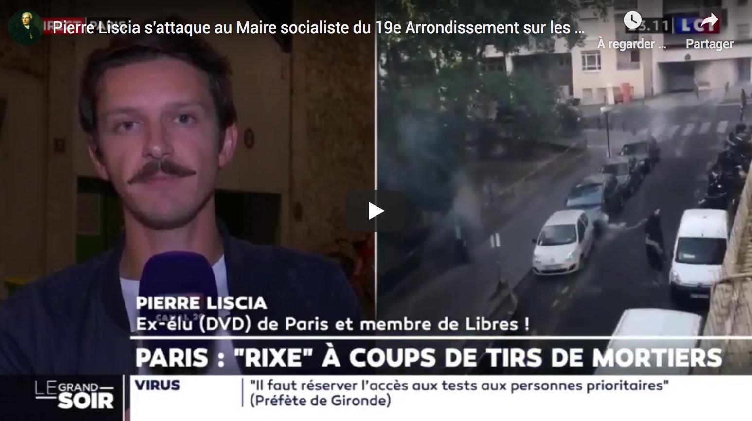 Pierre Liscia s'attaque au maire socialiste du 19e arrondissement sur les tirs de mortiers (rixe)