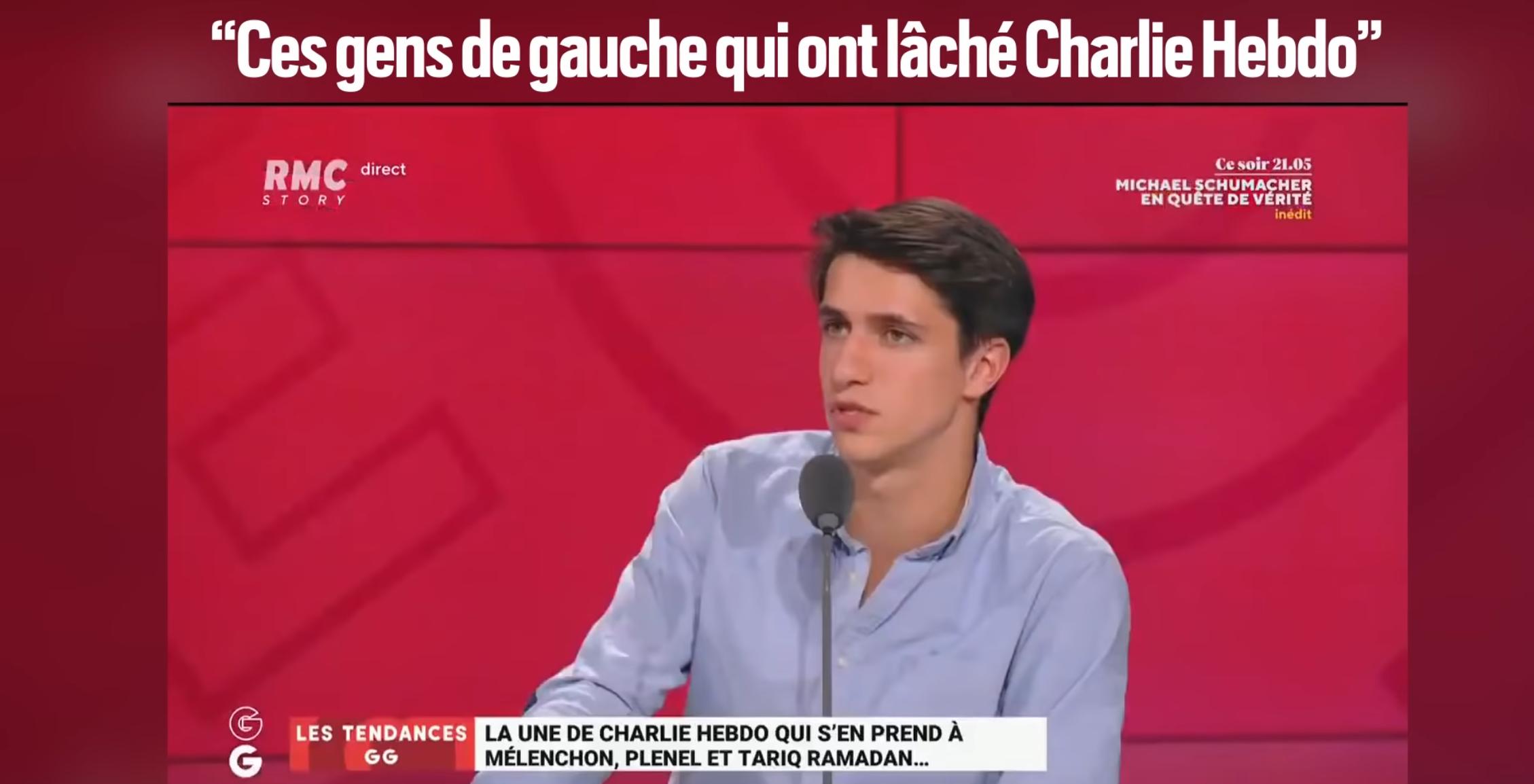 Maxime Lledo tance «ces gens de gauche qui ont abandonné Charlie Hebdo» (VIDÉO)