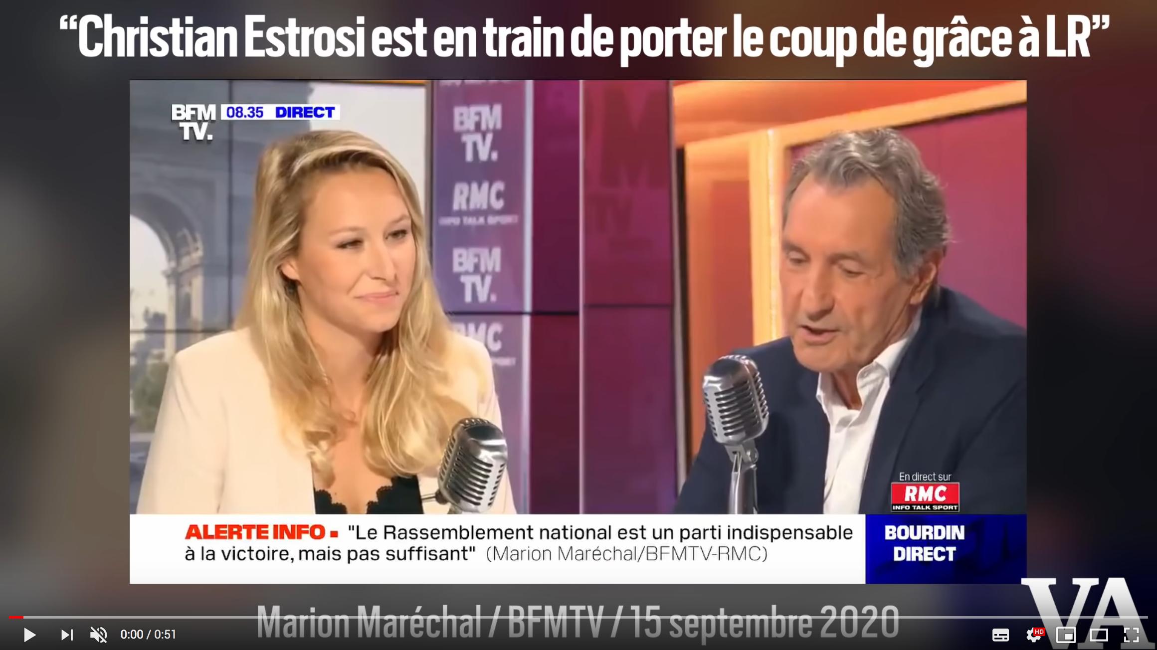 «Christian Estrosi est en train de porter le coup de grâce à LR», se réjouit Marion Maréchal (VIDÉO)
