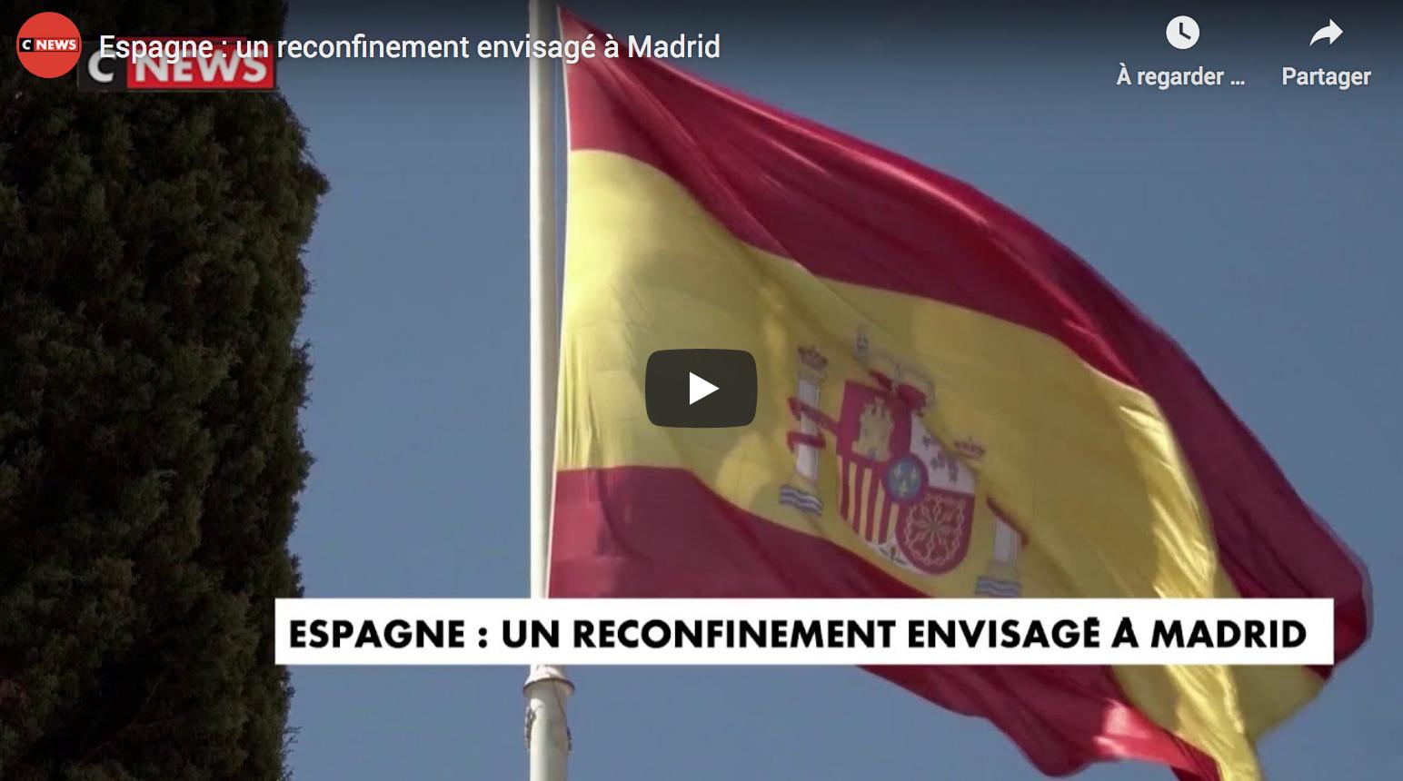 Espagne : un reconfinement envisagé à Madrid