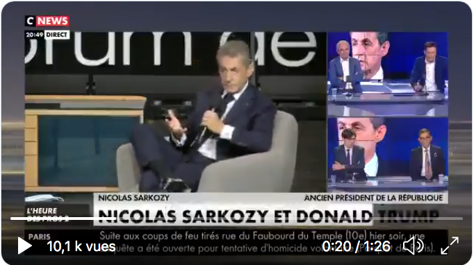 Le petit Sarkozy s'en prend au grand Trump (VIDÉO)