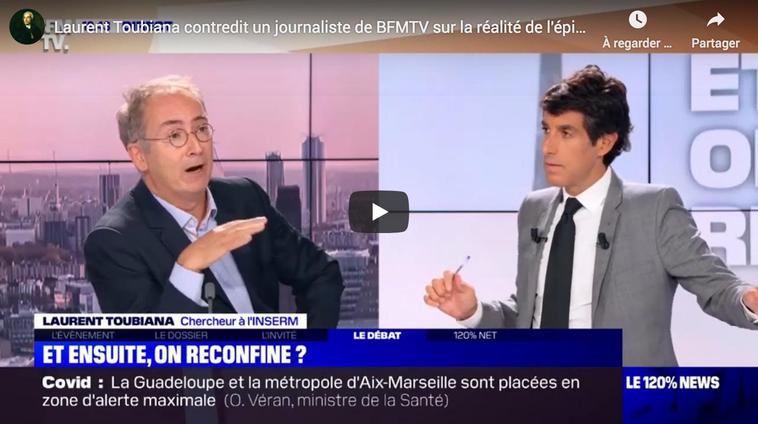 Covid-19 : Laurent Toubiana contredit un journaliste de BFMTV sur la réalité de l'épidémie (VIDÉO)
