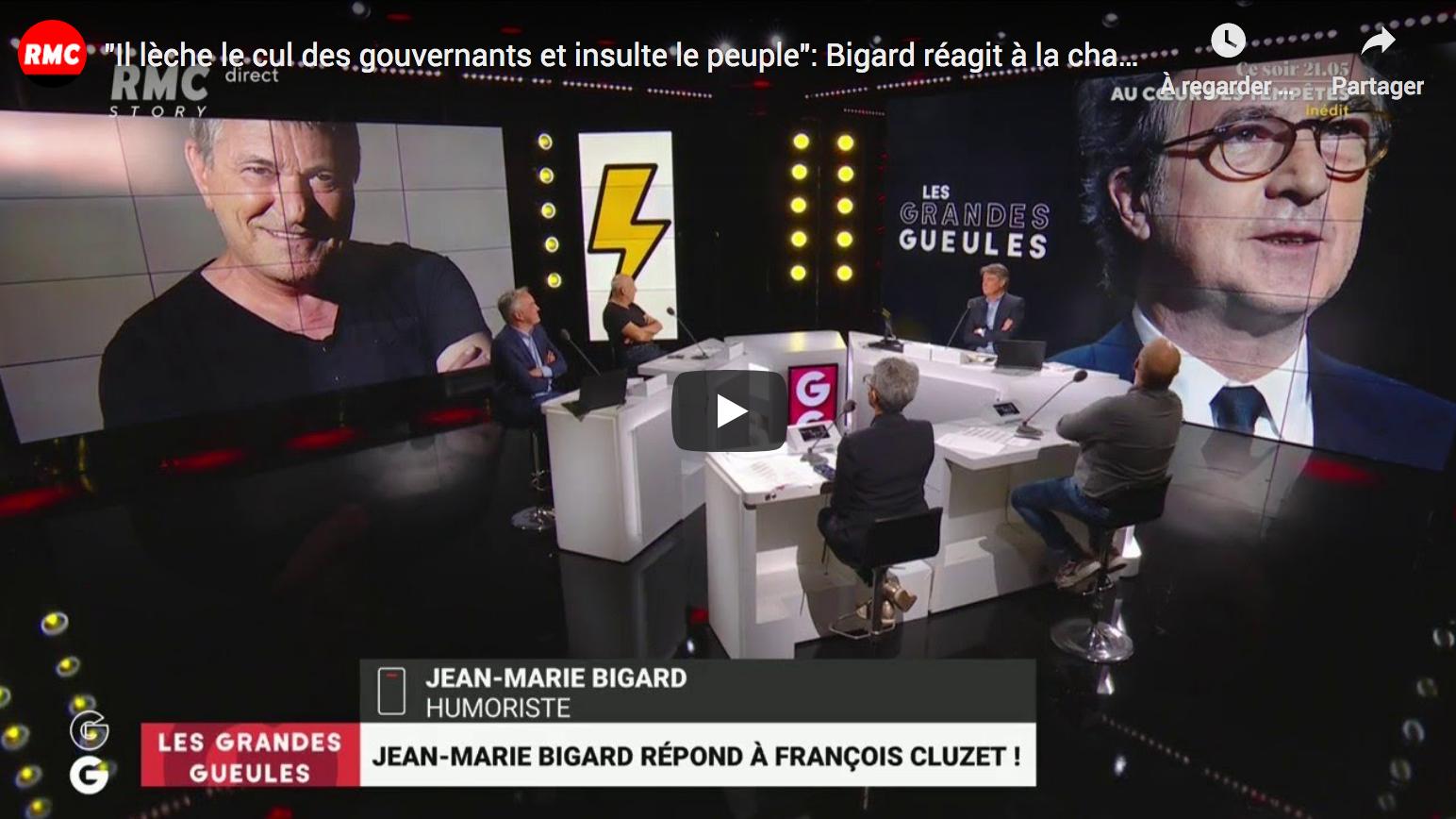 «Il lèche le c… des gouvernants et insulte le peuple» : Jean-Marie Bigard réagit à la charge de François Cluzet (AUDIO)
