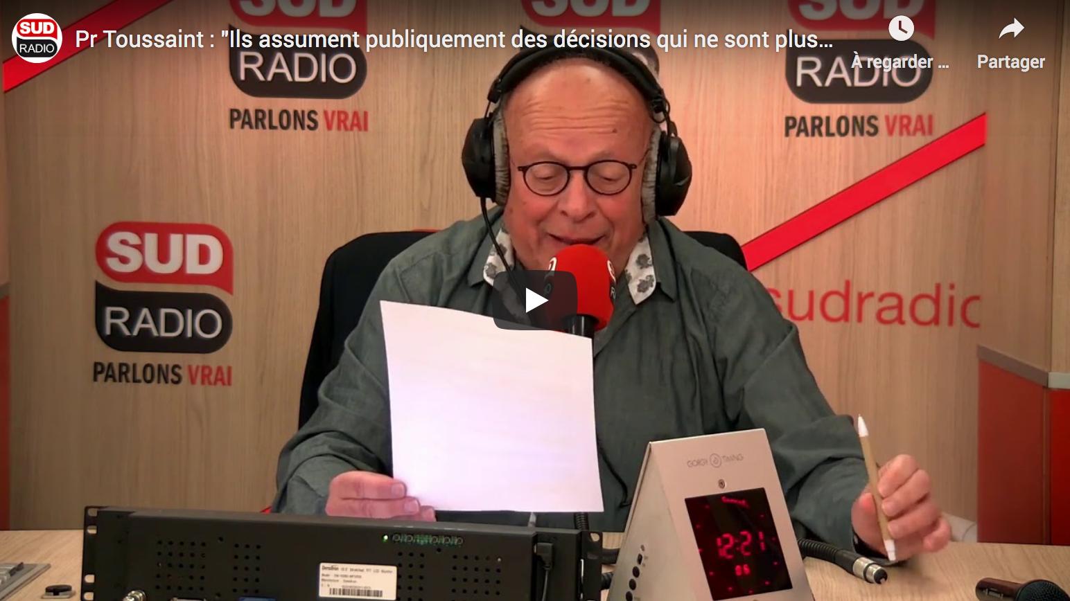 Pr Toussaint : «Ils assument publiquement des décisions qui ne sont plus fondées sur la réalité» (AUDIO)
