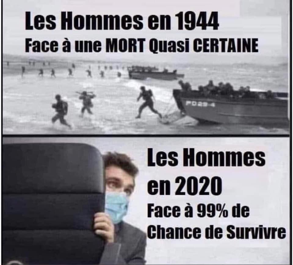 """Les Hommes en 1944 / Les """"hommes"""" en 2020"""
