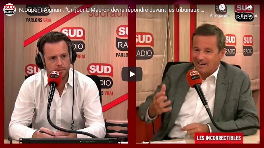Nicolas Dupont-Aignan à propos d'Alstom : «Un jour, Emmanuel Macron devra répondre devant les tribunaux pour haute trahison» (VIDÉO)