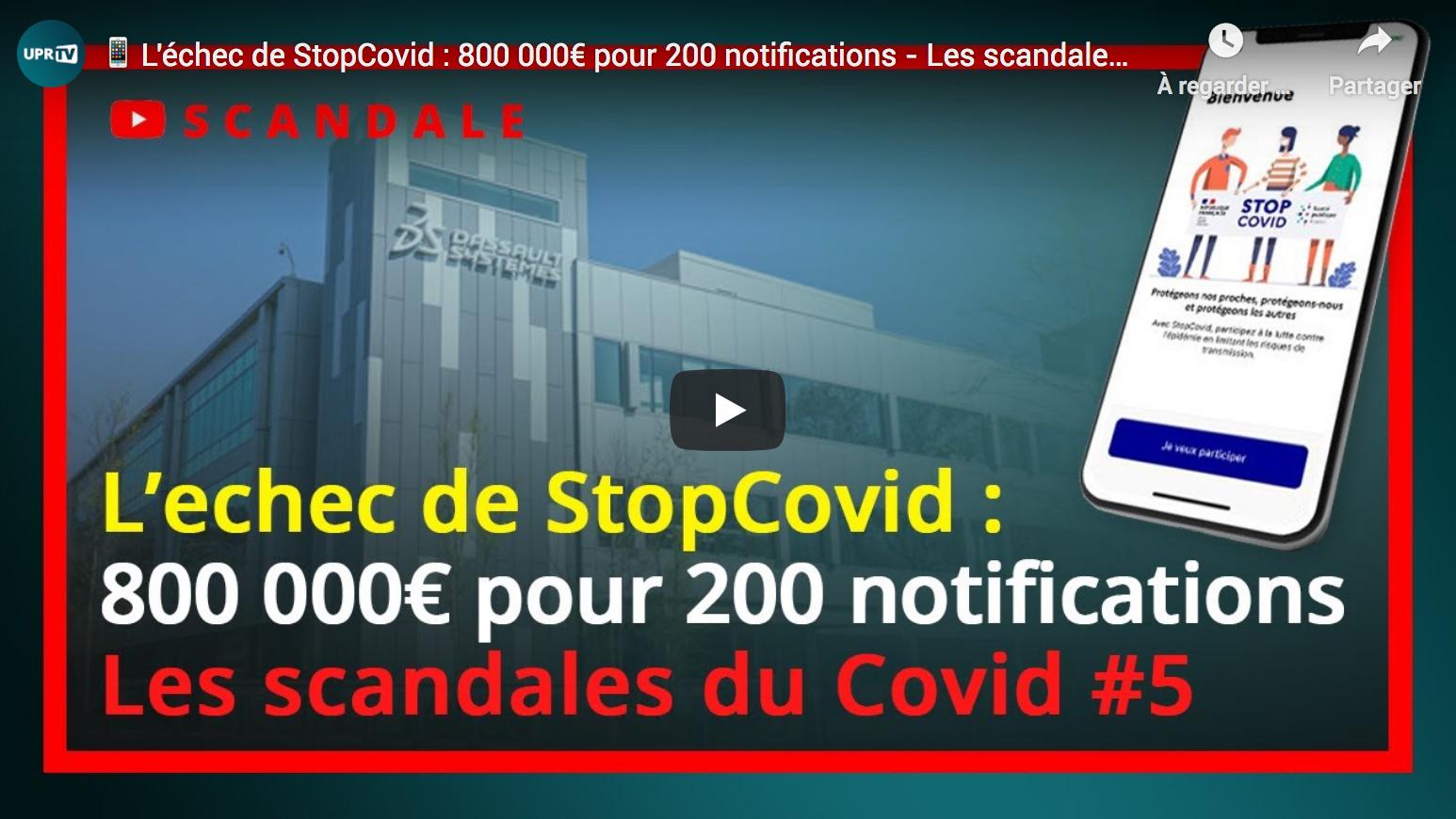 François Asselineau : L'échec de StopCovid, 800 000€ pour 200 notifications… (Les scandales du Covid #5)