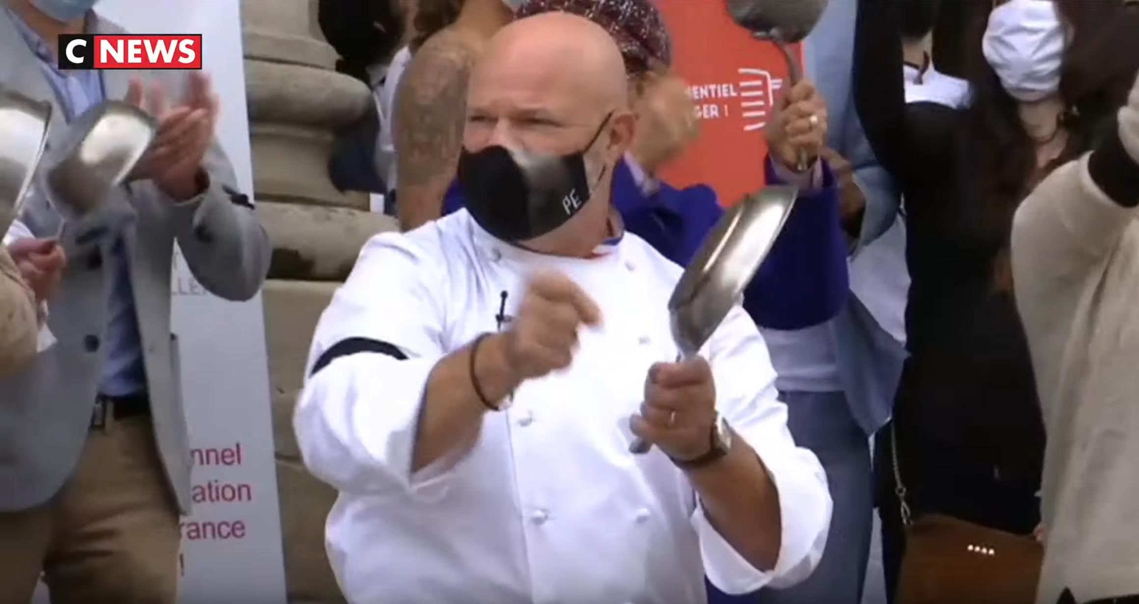 Les restaurateurs protestent contre les mesures du gouvernement… en «(faisant) du bruit» (VIDÉO)