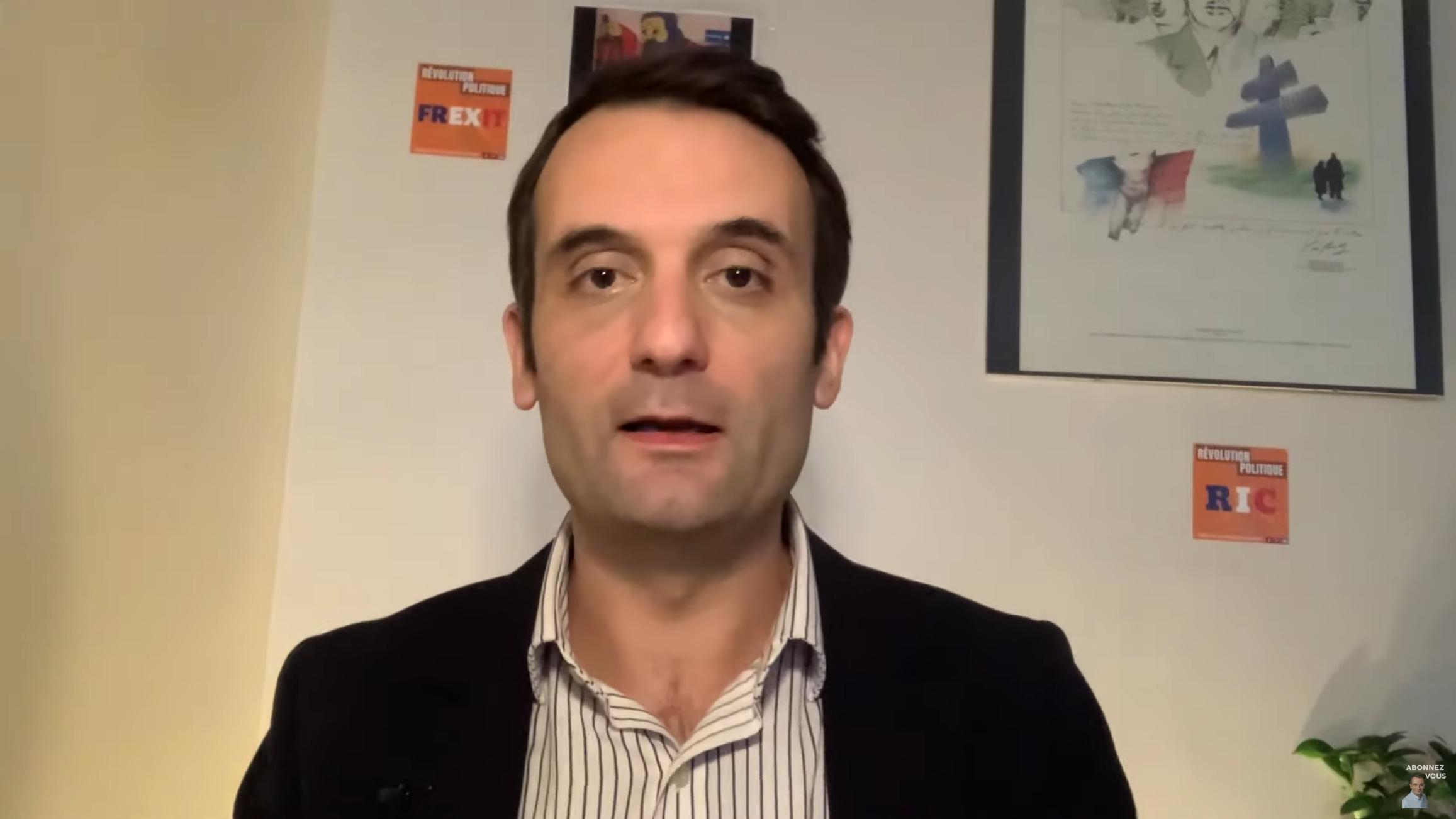 """Florian Philippot à propos de la tyrannie : """"Le futur qu'ils nous réservent n'est pas vivable"""""""