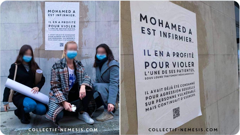 Les vraies féministes du collectif Némésis dénoncent Mohamed, l'infirmier violeur