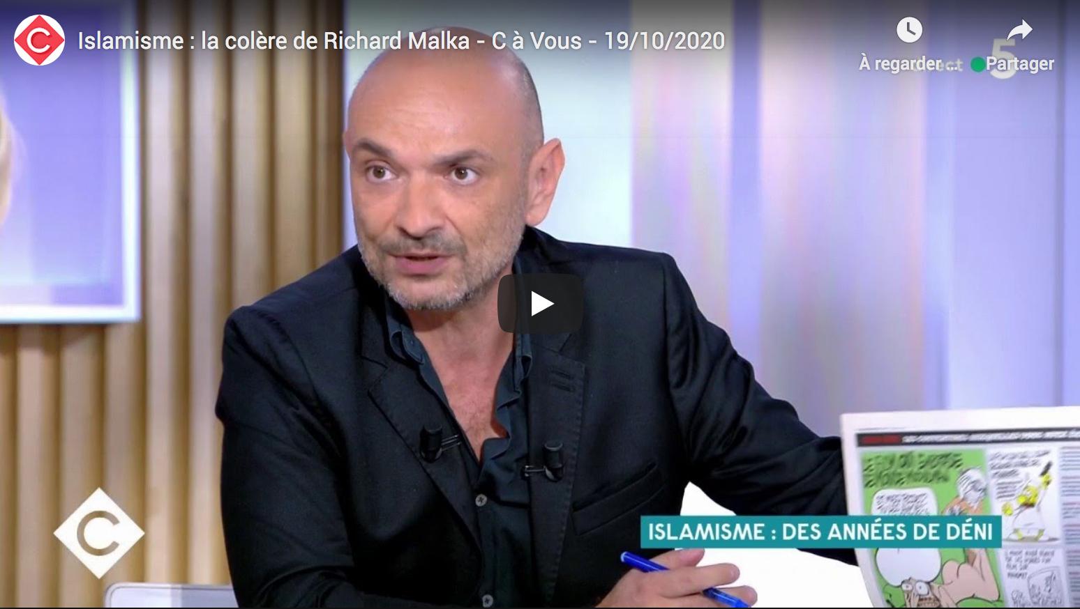 Islamisme : la colère de l'avocat gauchiste Richard Malka (VIDÉO)