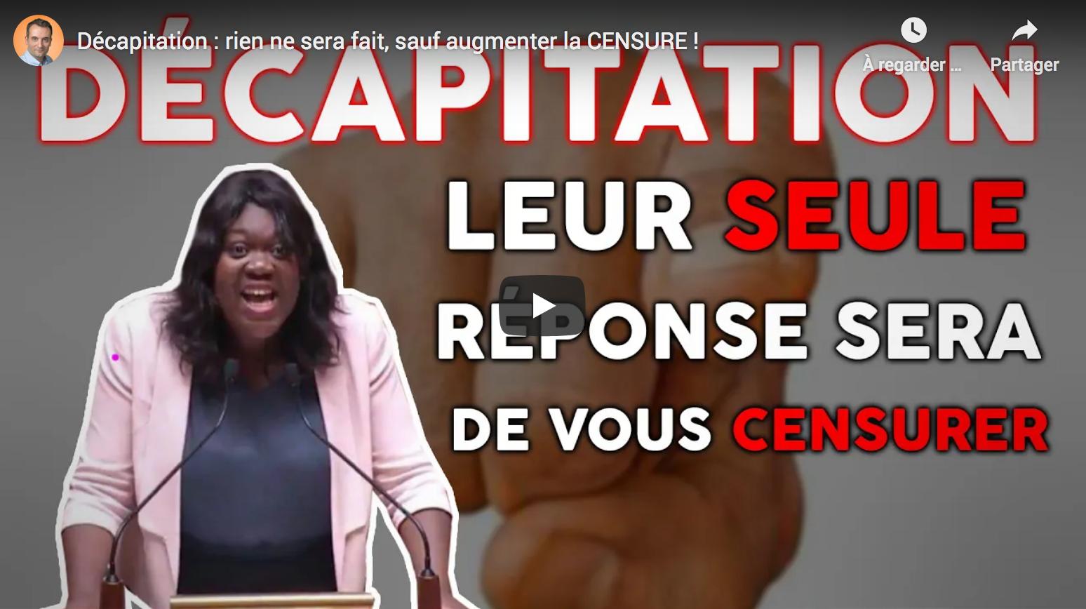 Décapitation de Samuel Paty : rien ne sera fait, sauf augmenter la censure des Français ! (Florian Philippot)