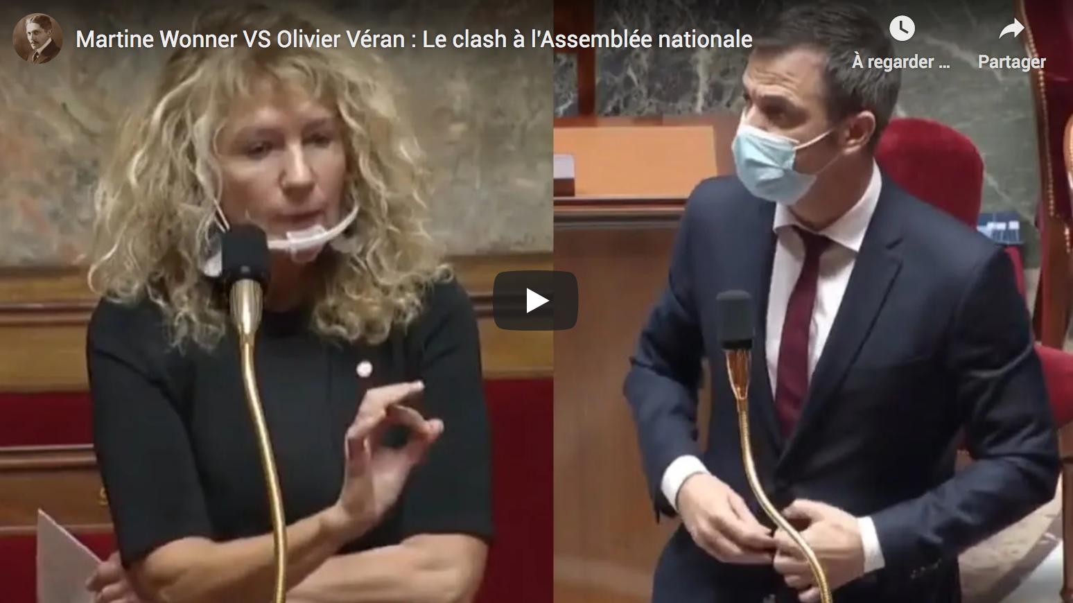 Martine Wonner VS Olivier Véran : Gros clash à l'Assemblée nationale (VIDÉO)