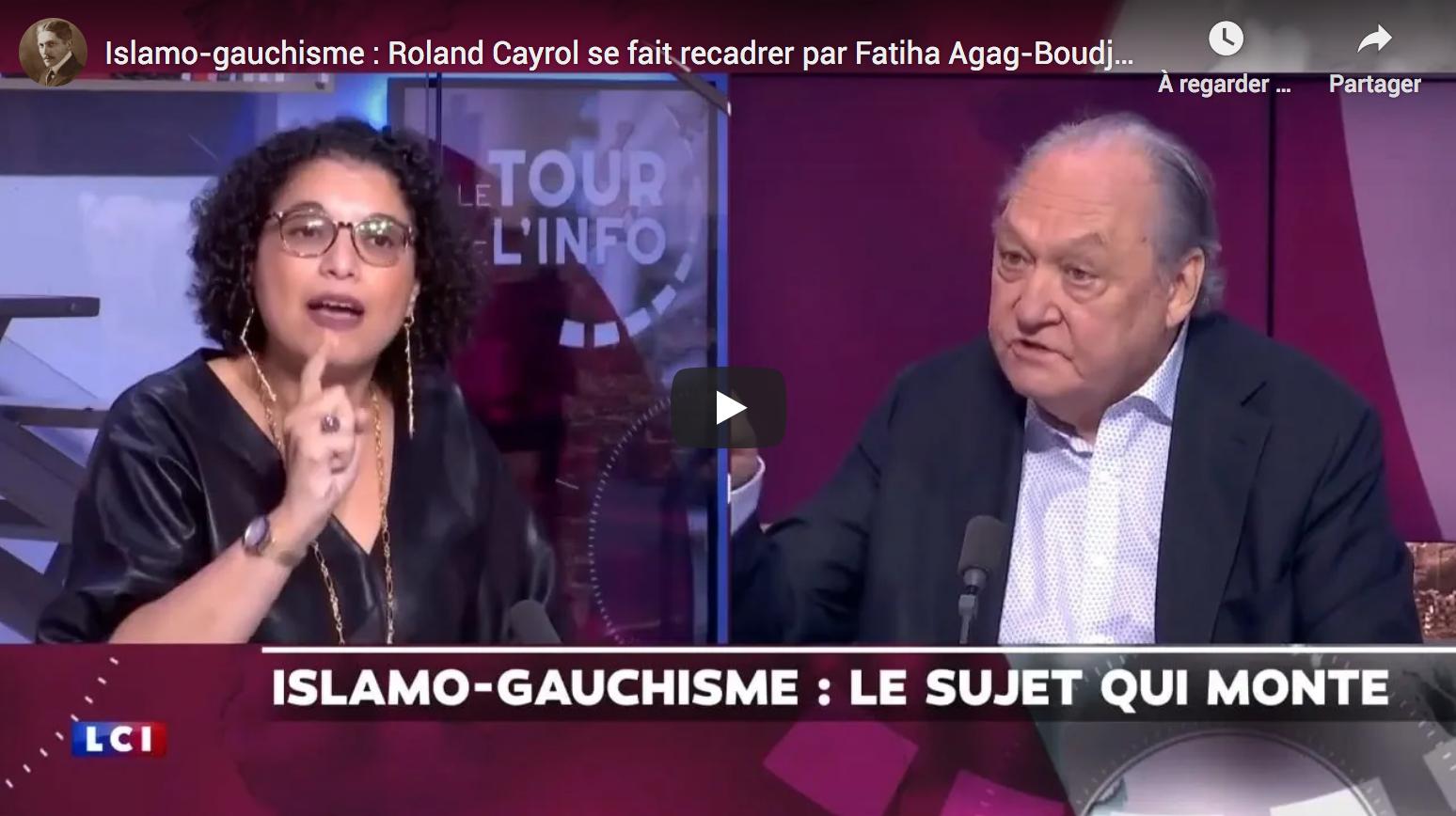 Islamo-gauchisme : Roland Cayrol se fait recadrer par Fatiha Agag-Boudjahlat et pète un câble en direct (VIDÉO)