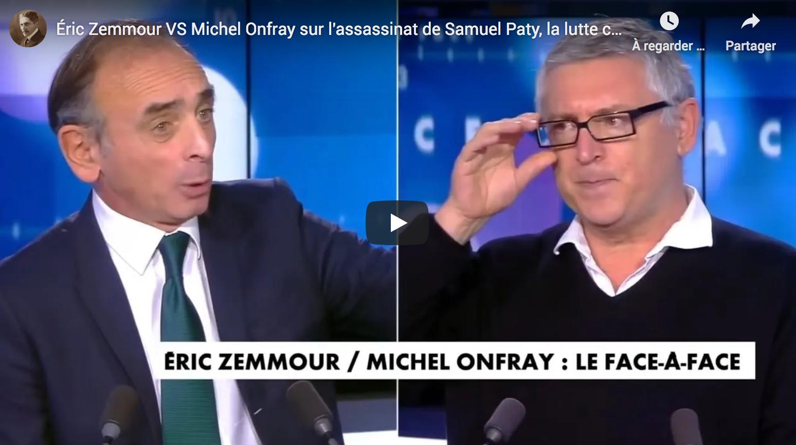 Éric Zemmour VS Michel Onfray sur l'assassinat de Samuel Paty, la lutte contre l'islamisme, etc. (DÉBAT D'EXCELLENTE TENUE)