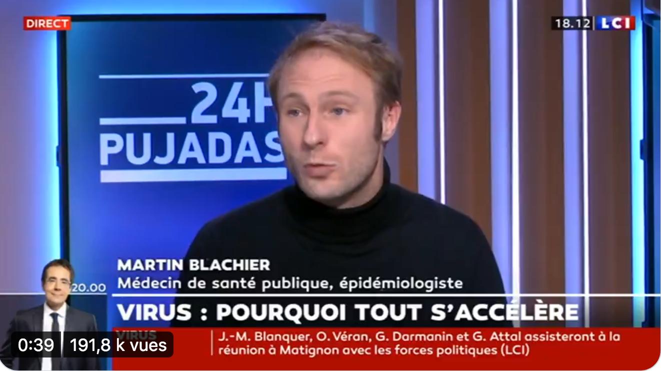L'aveu du Dr Martin Blachier : « Ce sont les vaccinés qui contaminent les autres » (VIDÉO)