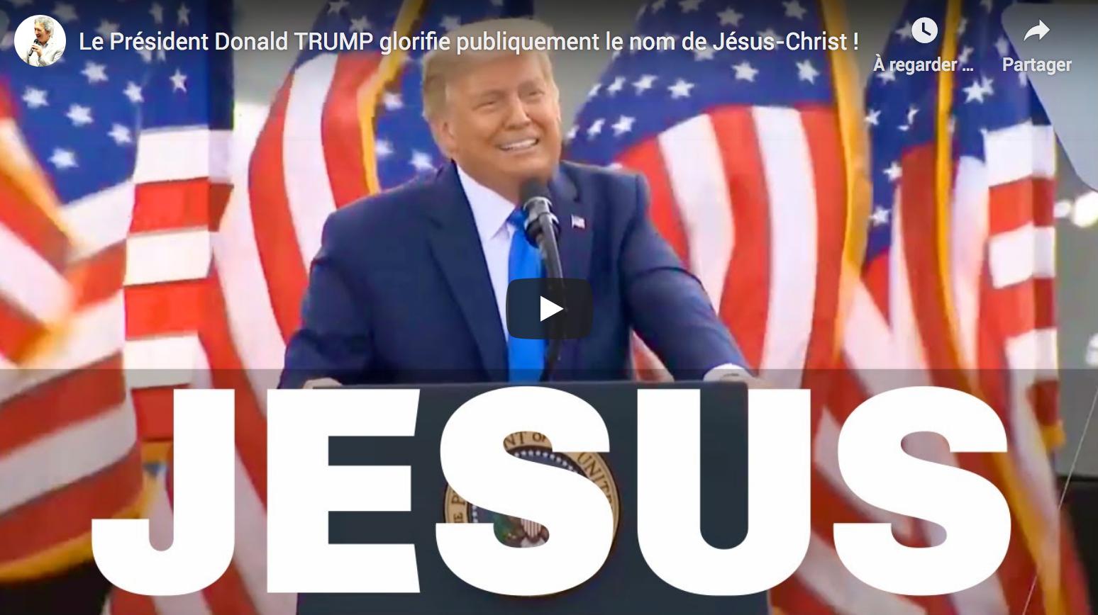 Le Président Donald Trump glorifie publiquement le nom de Jésus-Christ ! (VIDÉO)