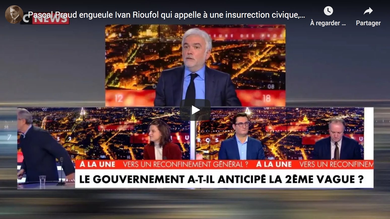 Pascal Praud gronde Ivan Rioufol qui appelle à une insurrection civique, il quitte le plateau ! (VIDÉO)