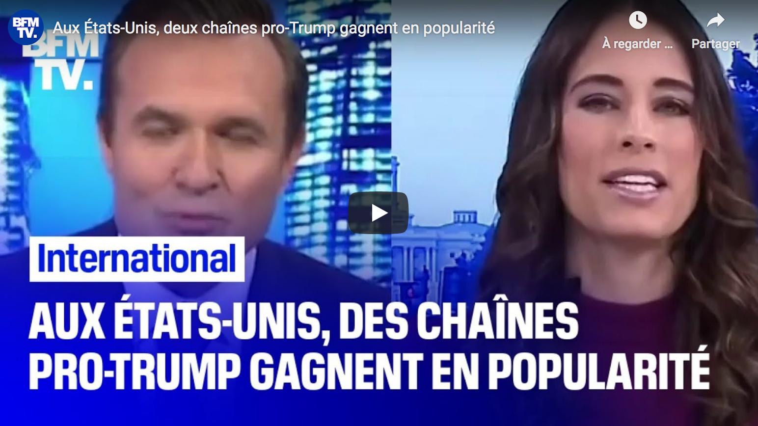 Aux États-Unis, deux chaînes pro-Trump gagnent en popularité