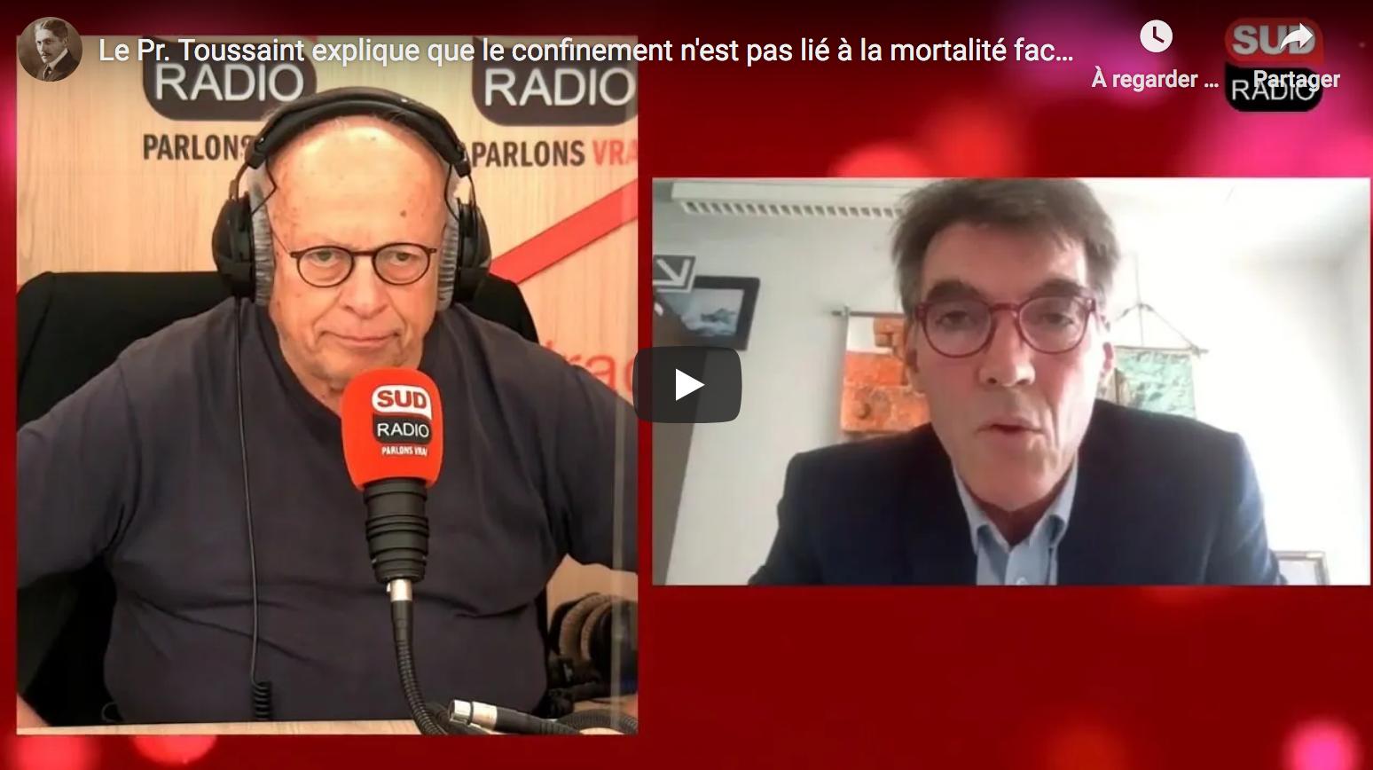Le Pr Jean-François Toussaint explique que le confinement n'est pas lié à la mortalité, étude à l'appui (VIDÉO)