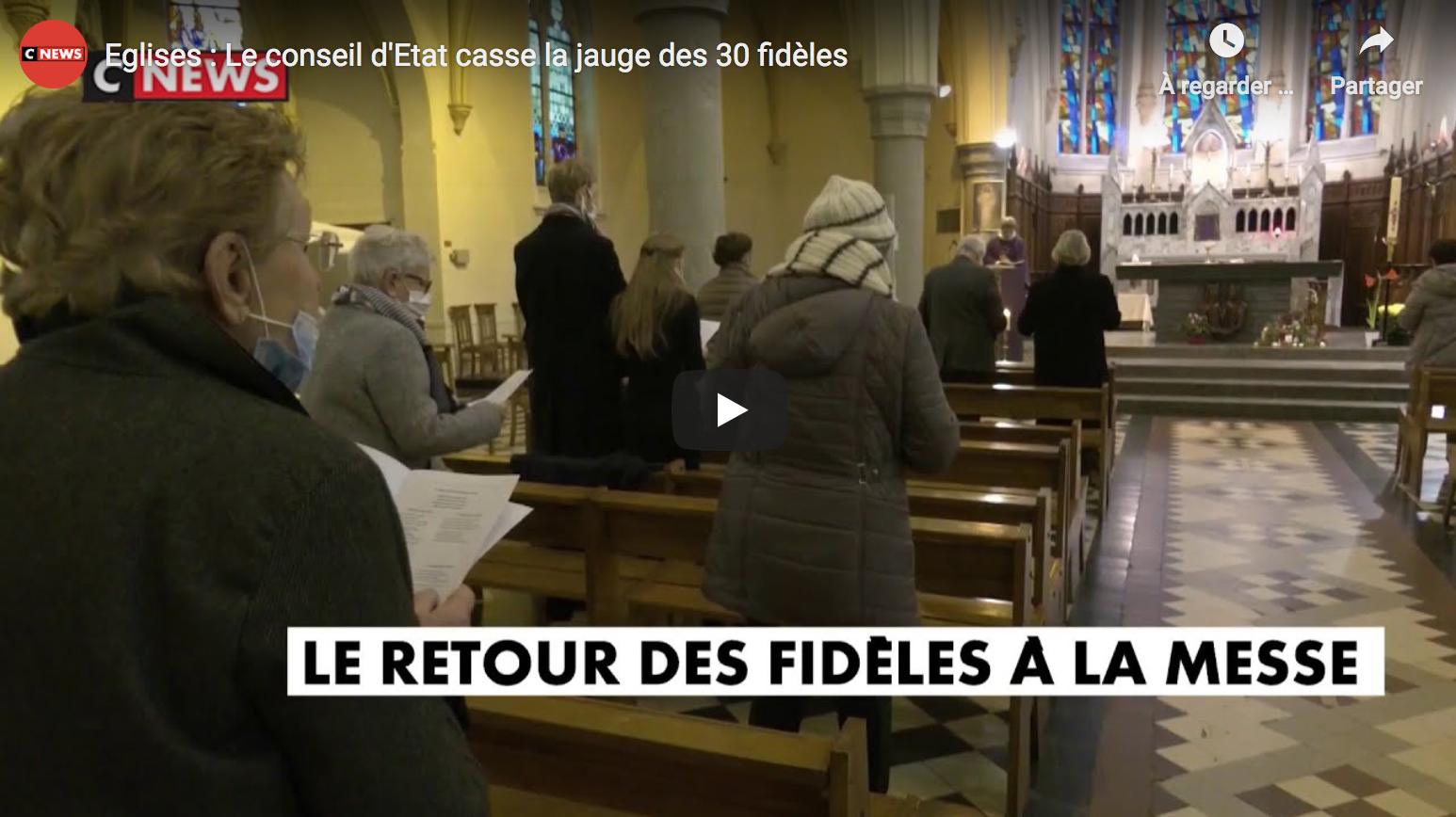Église catholique : Le conseil d'État casse la jauge des 30 fidèles