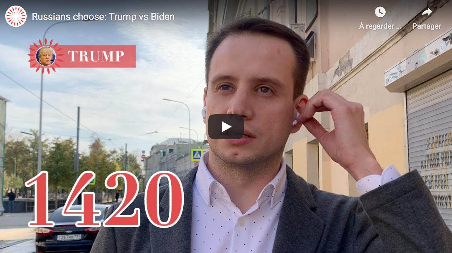 Trump ou Biden ? Les Russes choisissent le Président sortant (VIDÉO)