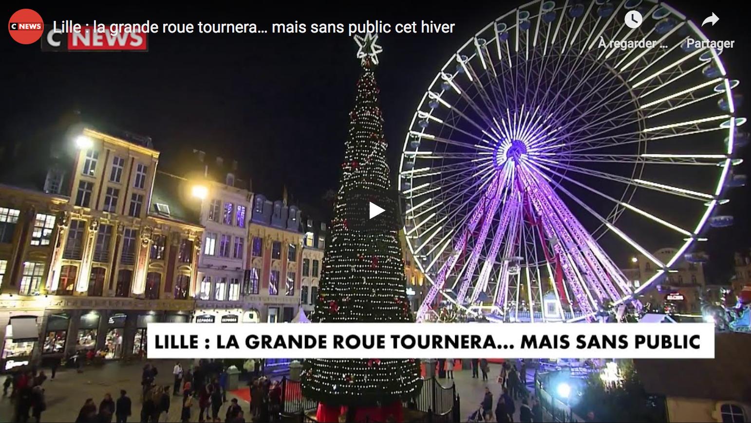 Lille : la grande roue tournera… mais sans public cet hiver