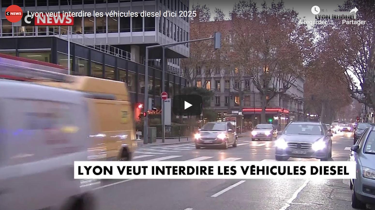 À cause de son maire extrémiste, Lyon veut interdire les véhicules diesel (70% du parc automobile actuel) d'ici… 2025