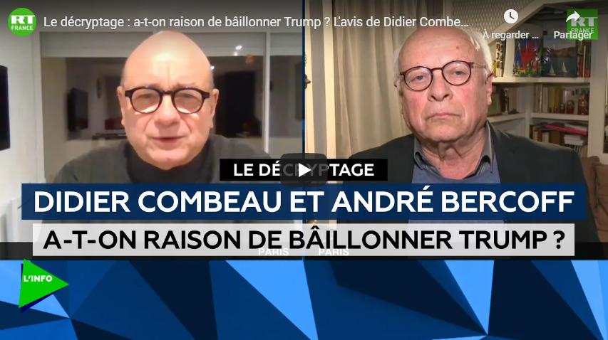 Le décryptage : a-t-on raison de bâillonner Trump ? L'avis de Didier Combeau et André Bercoff (DEBAT)