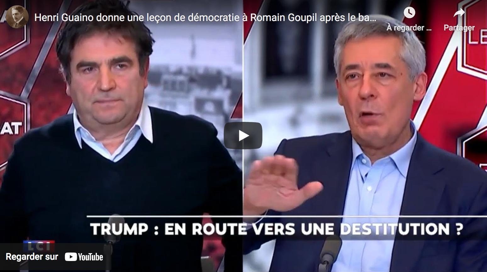 Henri Guaino donne une leçon de démocratie à Romain Goupil après le bannissement de Donald Trump de Twitter (VIDÉO)