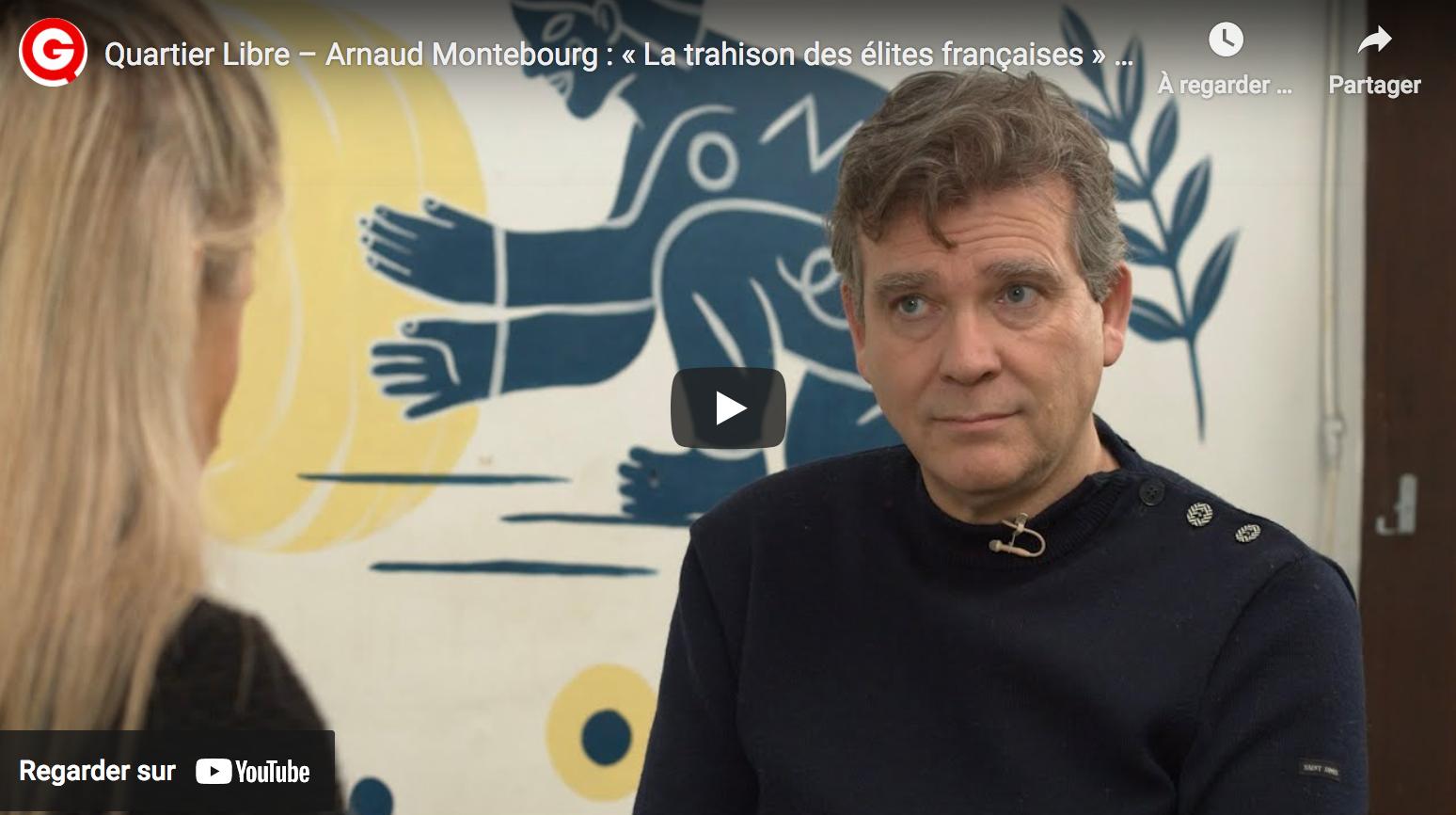 Arnaud Montebourg dénonce « la trahison des élites françaises » (VIDÉO)