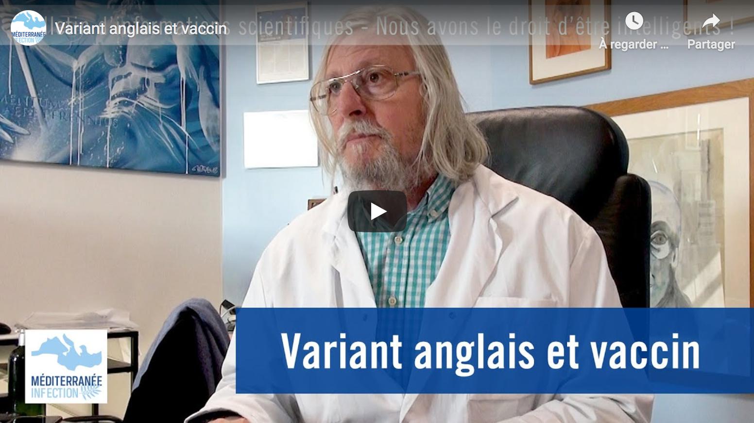 Professeur Didier Raoult : Variant anglais et vaccin