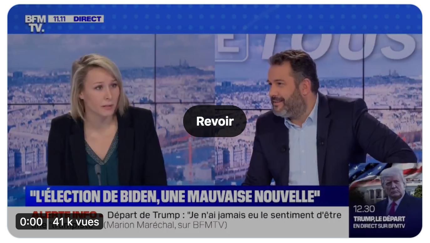 Drôle : Marion Maréchal démontre le racisme délirant de Joe Biden devant un Bruce Toussaint plus anti-Trump que jamais (mais incapable d'expliquer pourquoi)