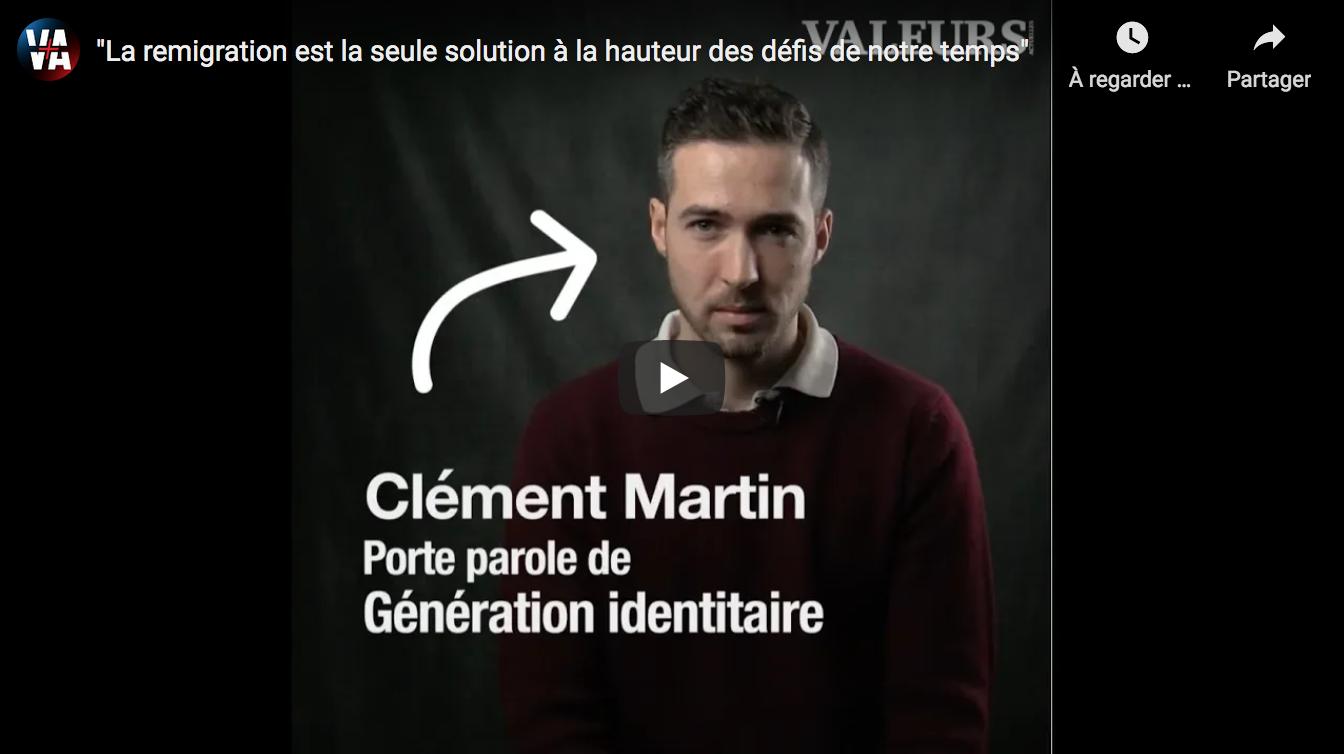 """Clément Martin : """"La remigration est la seule solution à la hauteur des défis de notre temps"""" (VIDÉO)"""