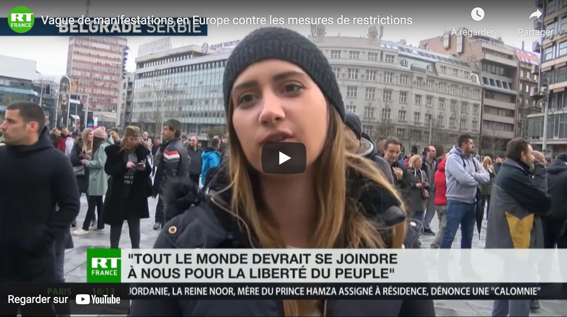 Vague de manifestations en Europe contre les mesures de restrictions (REPORTAGES)